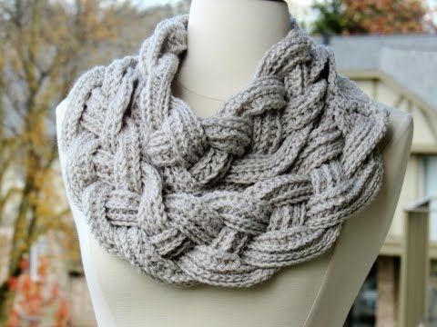 Double Layered Braided Cowl Crochet Tutorial Youtube