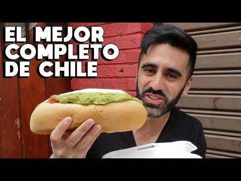 BUSCANDO EL MEJOR COMPLETO DE CHILE (HOTDOG GIGANTE CHILENO) - PROBANDO COMIDA CHILENA