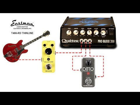 Pro Block 200 Demo With Eastman T486-RD Thinline, Mooer Yellow Comp, And Ditto Looper