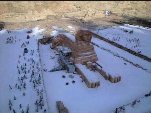 В Египте впервые за 122 года выпал снег. - YouTube