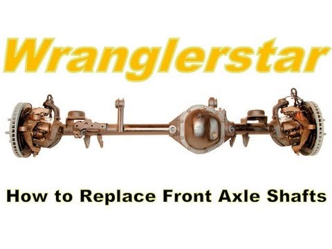 How To Remove Jeep Front Axle Shaft Dana 30 / 44