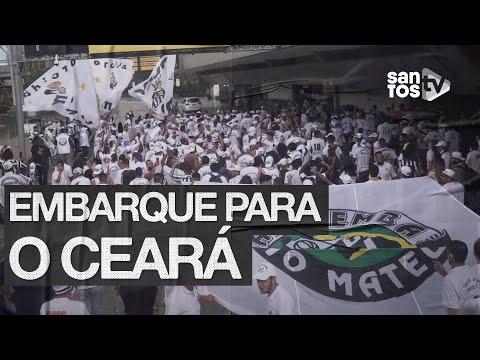 SANTOS RECEBE APOIO DE TORCIDA NA VIAGEM PARA O CEARÁ