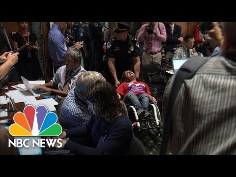 Health Care Protesters Are Forcibly Removed From Capitol Hill   NBC News