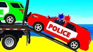 Человек Паук Полицейская Машина и Супергерои Мультики про Машинки для Малышей
