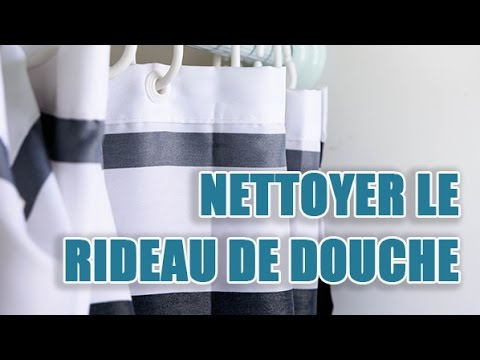 Nettoyer un rideau de douche jauni - YouTube