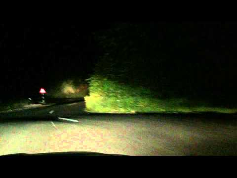 High speed Dash cam Driving mountain curves at night in India