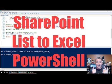 Export SharePoint List to Excel with PowerShell - YouTube