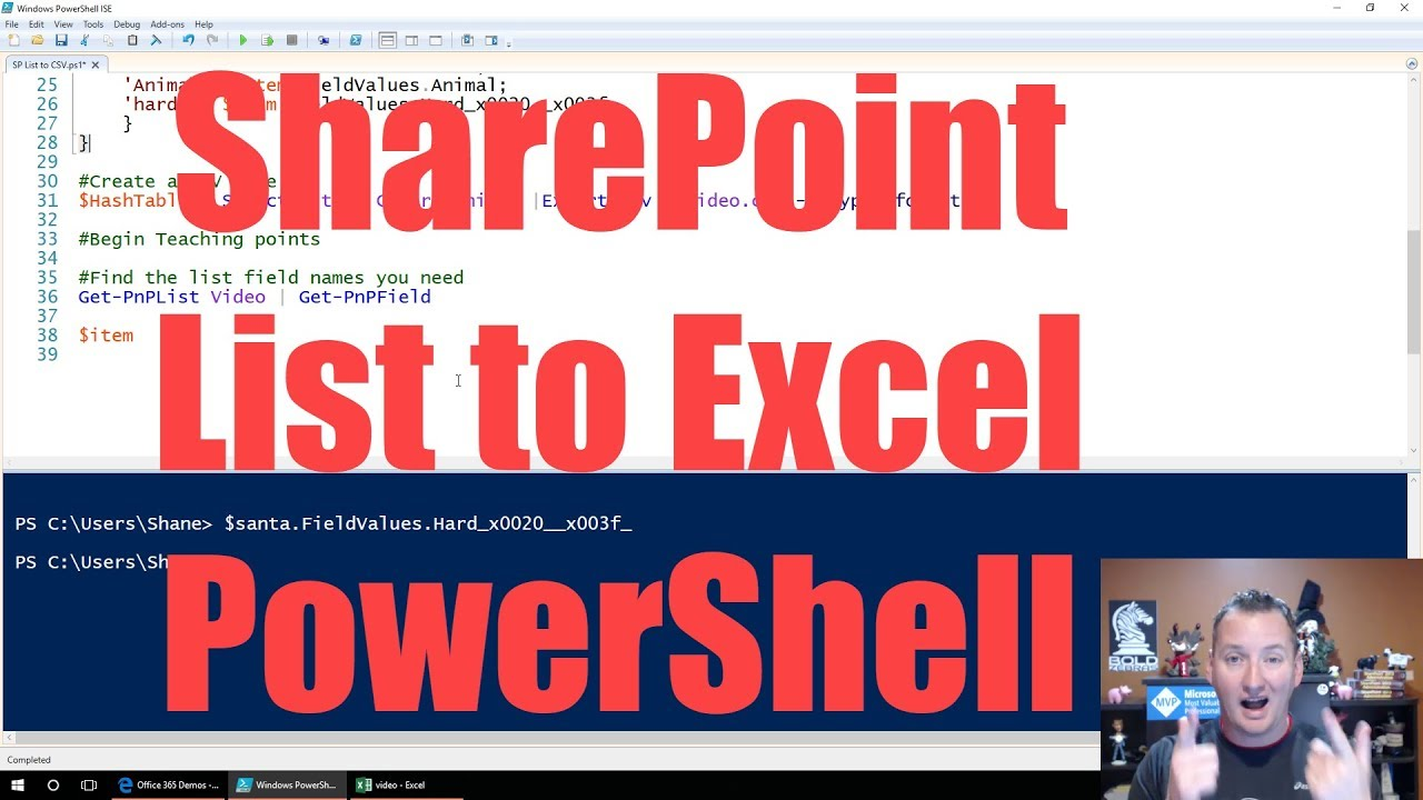 Export SharePoint List to Excel with PowerShell