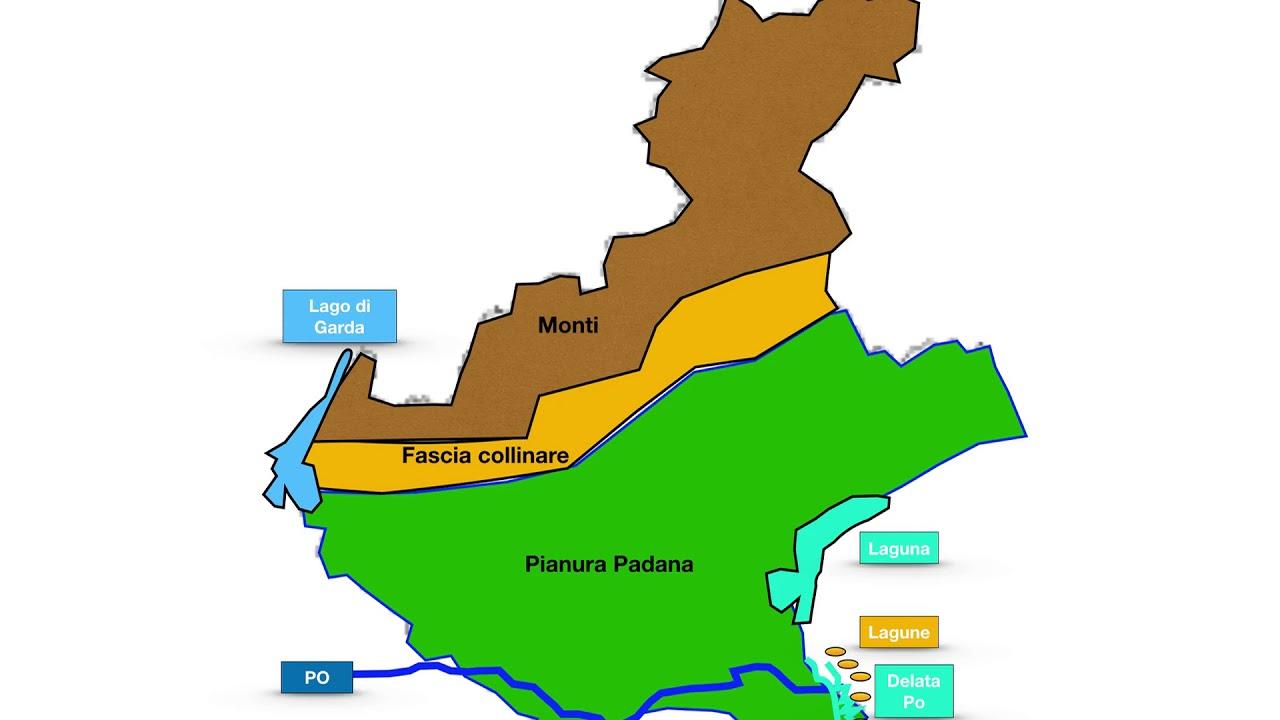 Cartina Fisico Politica Veneto.Geografia Veneto Youtube