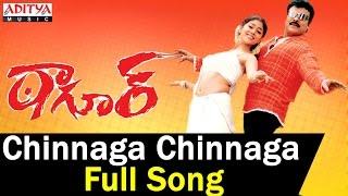 Chinnaga Chinnaga Full Song II Tagore Songs II Chiranjeevi, Shreya