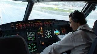 Cockpit flight Paris (CDG) - Thessaloniki (SKG) Cyprus Airways A319 pt2 (eng. sub)