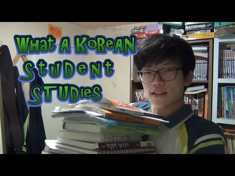 What a Korean Student STUDIES!!