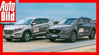 Mazda CX-5 vs Hyundai Tuscon (2017) Test/Review/Fahbericht