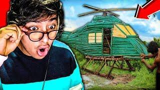 Cet enfant a construit un hélicoptère incroyable... (il vole)