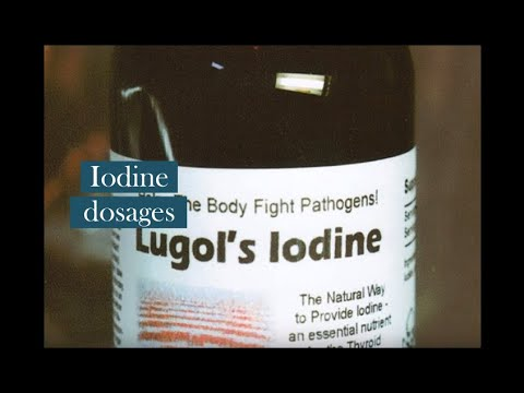 Iodine dosages