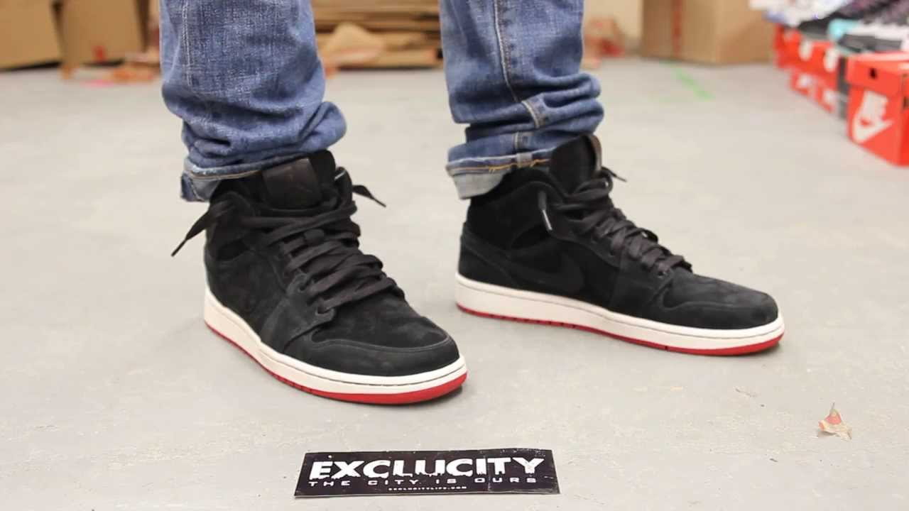 Air Jordan 1 Mid Nouveau Black - Gym Red On-feet Video at Exclucity -  YouTube 52bbcb29a