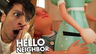 ¿PODRÉ VER A LA ESPOSA DEL VECINO? HE HACKEADO EL JUEGO !! - Hello Neighbor