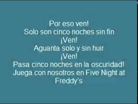 Letra: Five Nights at Freddy's Rap Zarcort & Kronno (Descarga incluida)