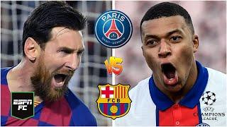 CHAMPIONS LEAGUE Barcelona con su once de lujo por la remontada vs PSG. ¿Messi vs Mbappé? | ESPN FC
