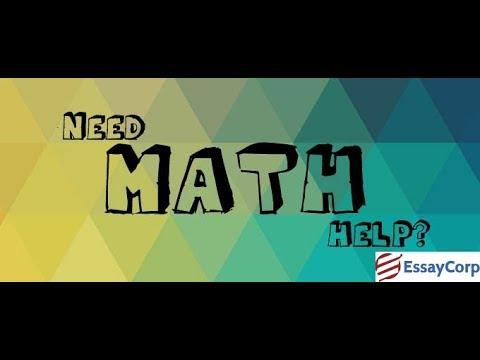 Math homework help youtube