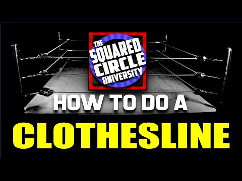 CLOTHESLINE - How to do a clothesline - JBL signature finishing move CLOTHESLINE FROM HELL