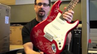 autographed g 5a stratocaster giveaway congratulations