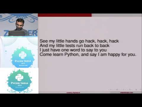 Image from Lightning Talk - Python nursery rhymes - PyCon India 2015