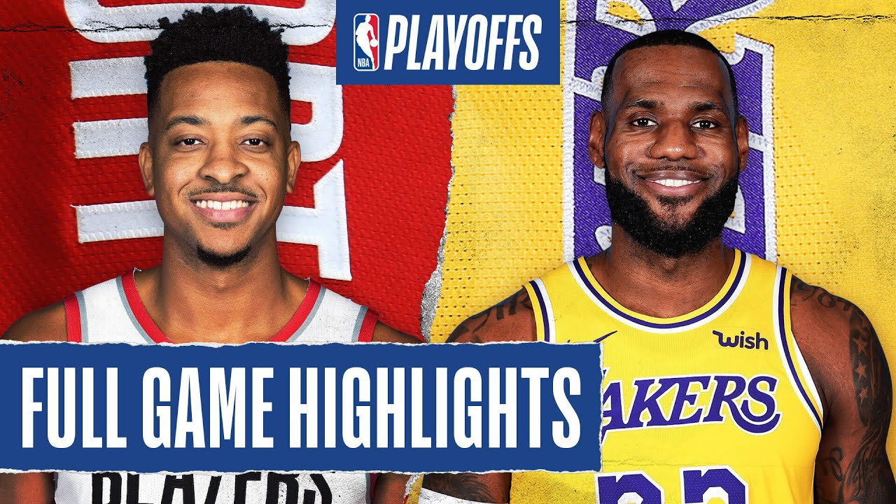 Trail Blazers At Lakers Full Game Highlights August 29 2020 Youtube