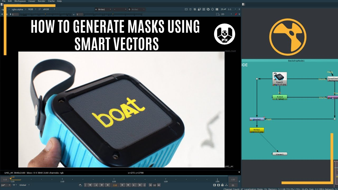 How to generate masks using Smart Vectors | Nuke Tutorial