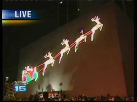 Fort Wayne Santa Lighting Nov 25 2009 Newscast