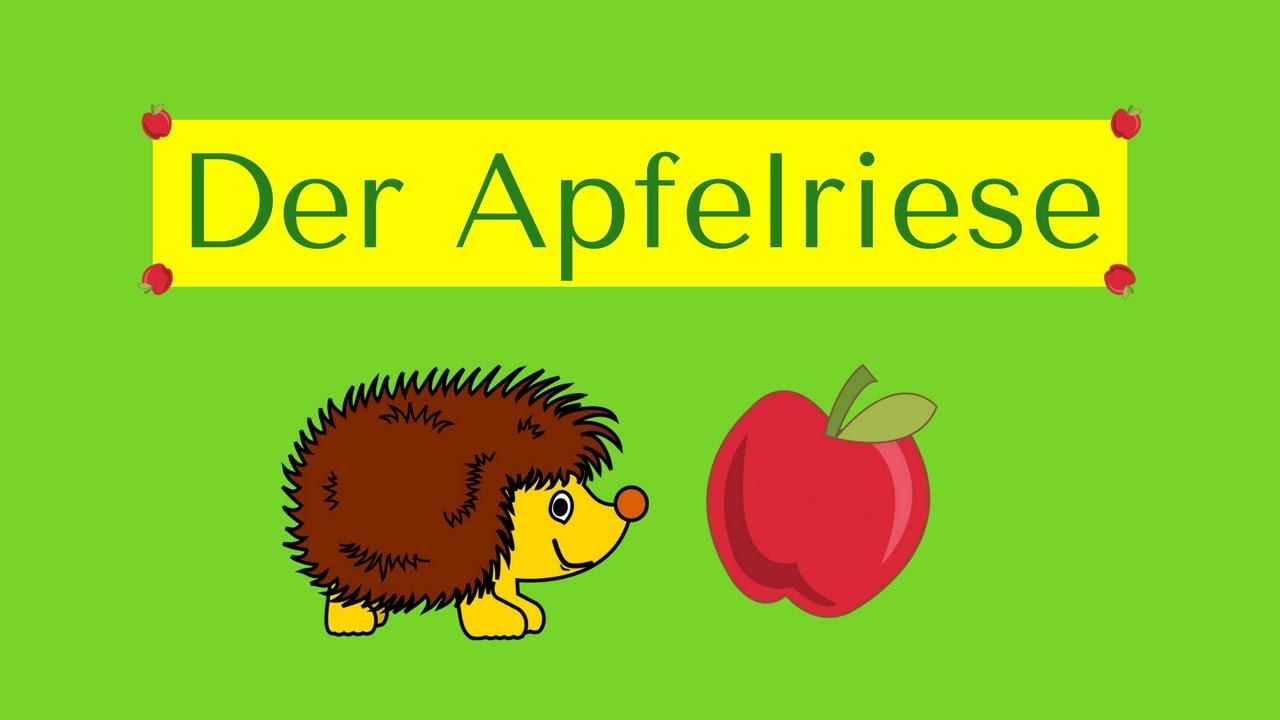 Der Apfelriese Igelgedicht