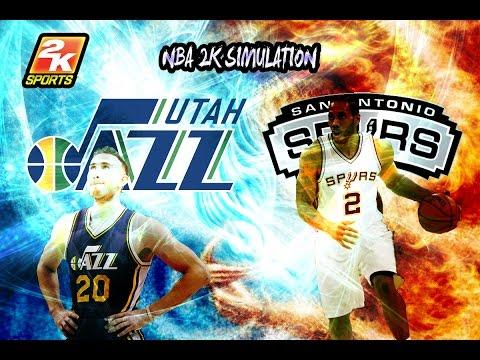 Utah Jazz vs San Antonio Spurs - Full game | April 2, 2017 | Season 2016-17 | NBA 2K17