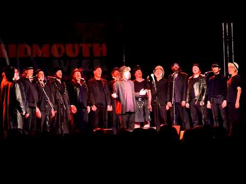The Spooky Men's Chorale sing the Universal Club Song, at Sidmouth Folk Week 2013