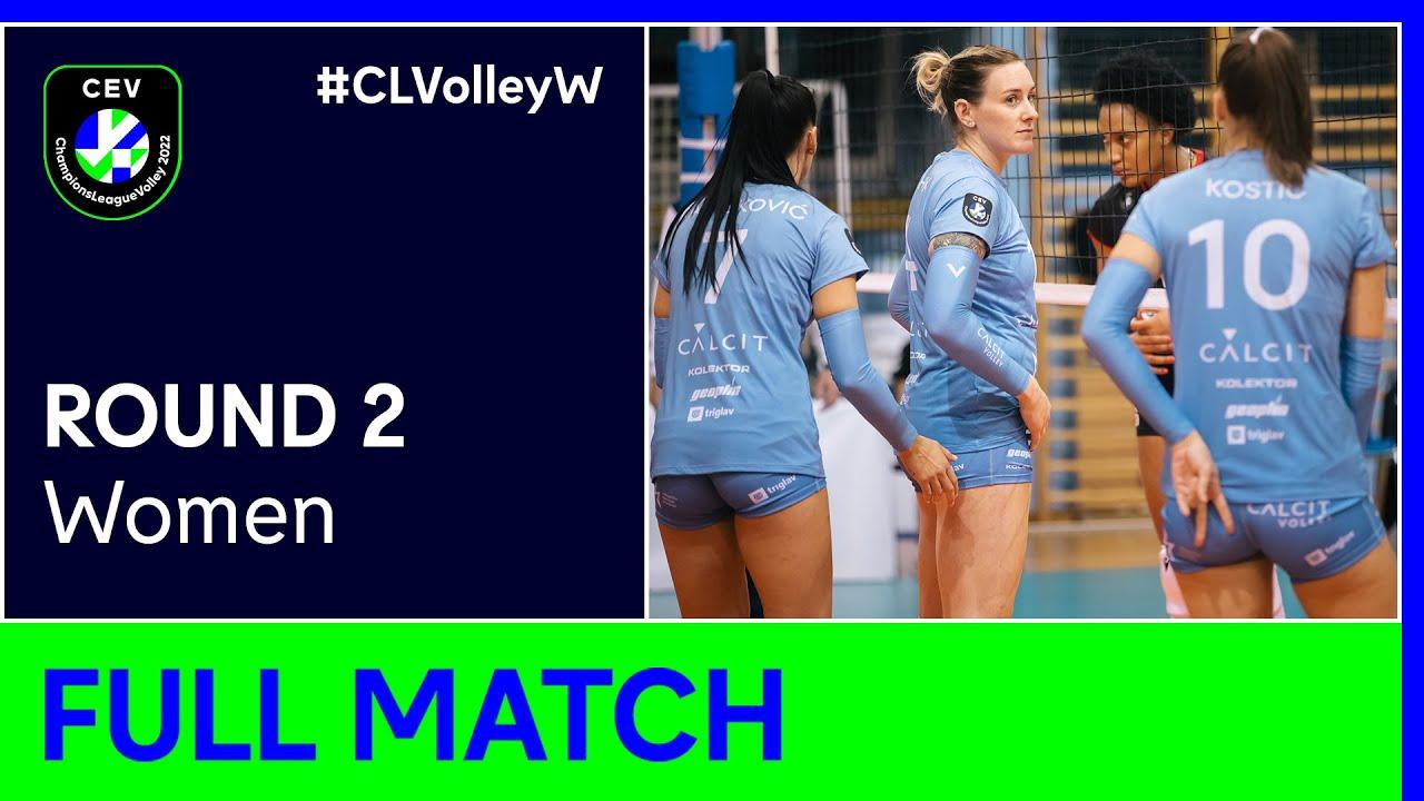 Calcit KAMNIK vs. SC Prometey DNIPRO - CEV Champions League Volley 2022 Women | Round 2