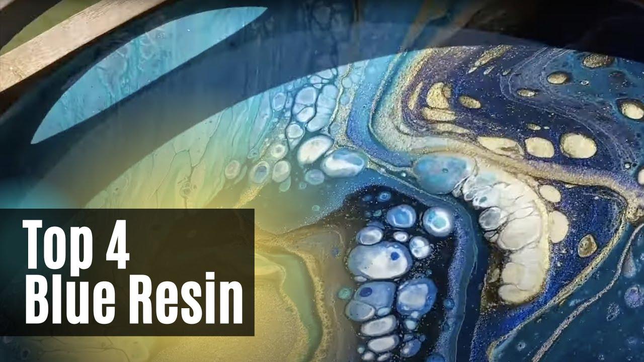 Top 4 Blue Resin Dirty Pour Art Pieces | 750