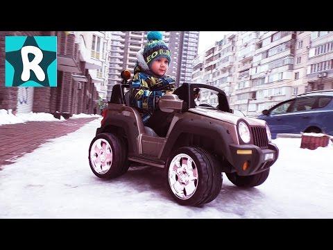 НА МАШИНЕ по Снегу! едем за Посылкой Робокар Поли новые серии Робокар Robocar Poli ★Kids Roma Show