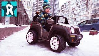 Робокар Поли НА МАШИНЕ по Снегу! едем за Посылкой Робокар Поли машинки новые серии Robocar Poli toys