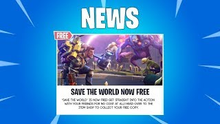 Comment obtenir Fortnite SAVE THE WORLD FOR FREE! (PS4, XBOX ONE , PC) GLITCH 2018