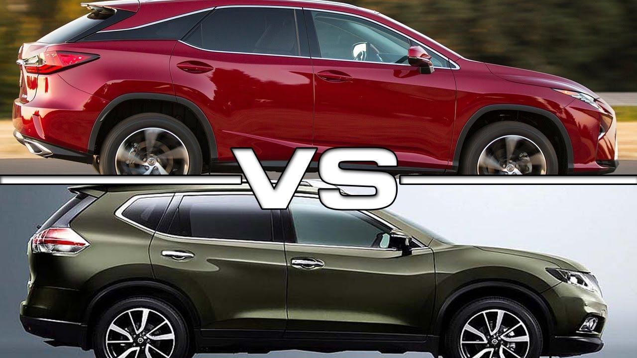 Murano Vs Rogue >> 2016 Lexus RX 350 vs 2016 Nissan X-Trail - YouTube
