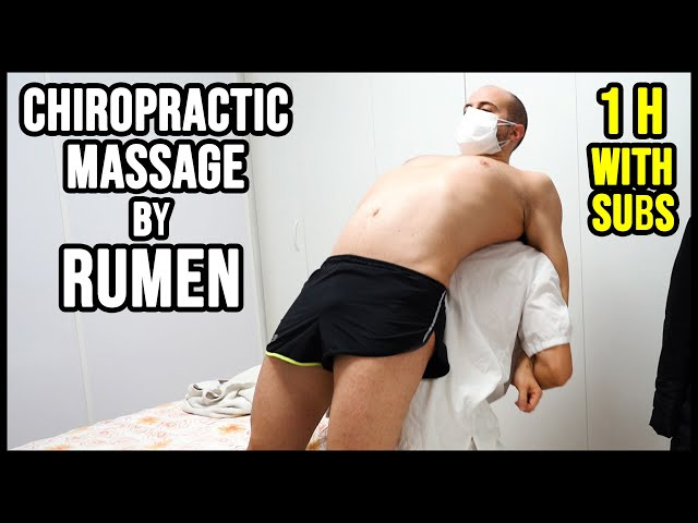1 HOUR of RUMEN 💆 CHIROPRACTIC FULL BODY MASSAGE with CRACK 💆 ASMR relaxing voice and whispers