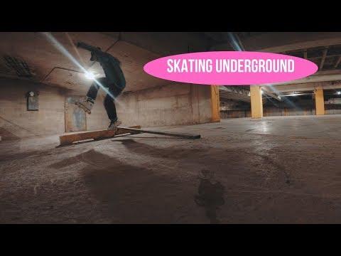 Making A Parking Garage My Skatepark // Inline Skating VLOG