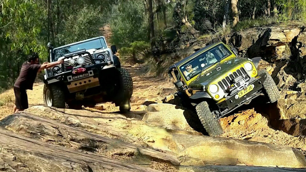 Swb 4x4 Challenge Defender 90 Vs Jk Wrangler Youtube