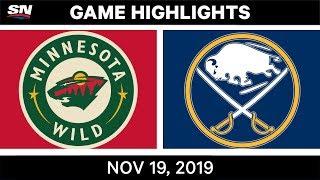 NHL Highlights   Wild vs Sabres - Nov. 19, 2019