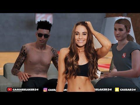 NBA 2K18 - Rachel Demita Interview!! 😍😍 NBA 2KTV Interview In My MyCourt! Rachels Thick ASF!!