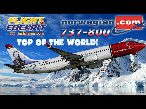"""Norwegian 737-800 to the """"Top of the World"""""""