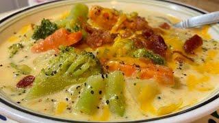 How To Make Broccoli \u0026 Potato Cheese Soup