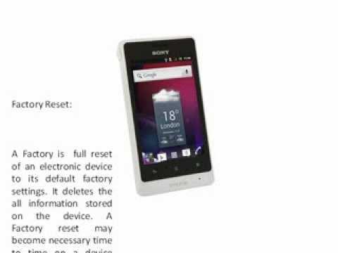 Sony xperia st27i hard reset