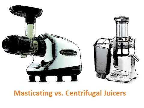Masticating Juicer Or Centrifugal Juicer : Centrifugal vs. Masticating Juicers - YouTube