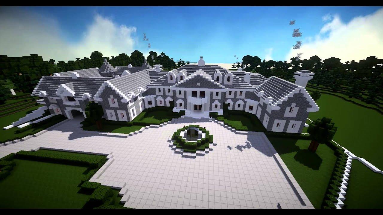 Minecraft Build Stone Mansion Alpine NJ