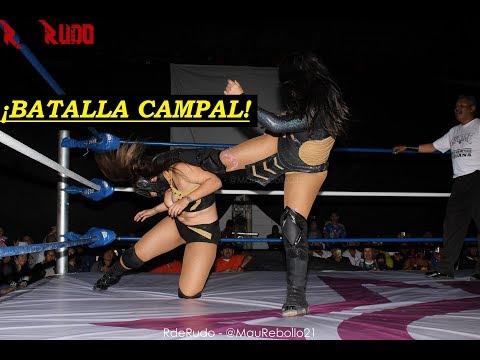 Lady Shani vs La Hiedra vs Chik Tormenta vs Keira. Campeonato AULL